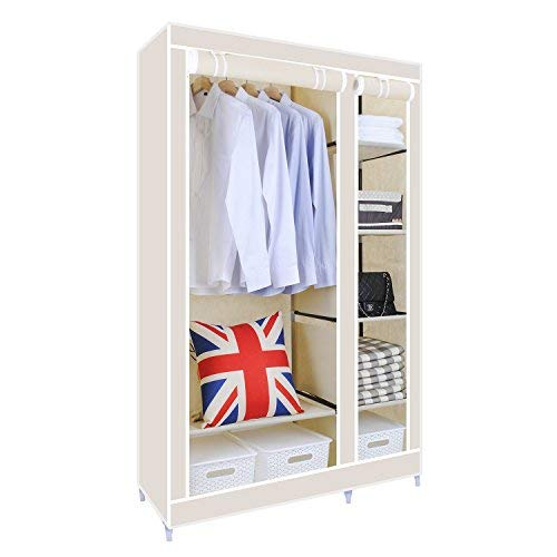small wardrobes [upgrade version]hst mall double canvas wardrobe cupboard clothes storage  solution ZNPYPQF
